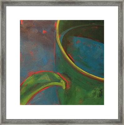 Green Tea Framed Print by Tina Marie Rothwell