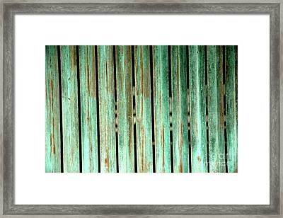 Green Texture Fence Framed Print