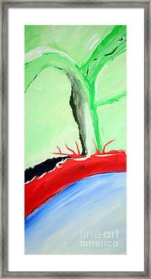 Green Tree Red Ridge Framed Print