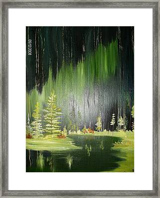 Green Trees Framed Print by Terry Lash
