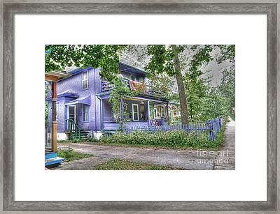 Green Trim Gaudy-otherwise Understated Framed Print by David Bearden
