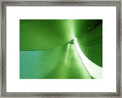 Framed Print featuring the photograph Green Tunnel. Los Angeles Series. by Ausra Huntington nee Paulauskaite