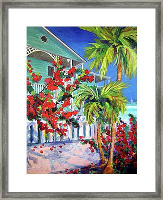 Green Turtle House Framed Print
