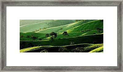 Green Valley Framed Print