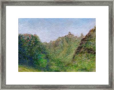 Green Valley Framed Print by Kenneth Grzesik