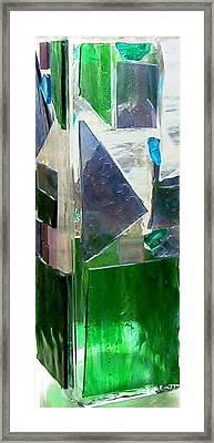 Green Vase Framed Print by Jamie Frier