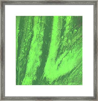 Green Vein, Abstract Acrylic Painting Framed Print by Cara Bevan