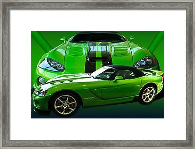 Green Viper Framed Print