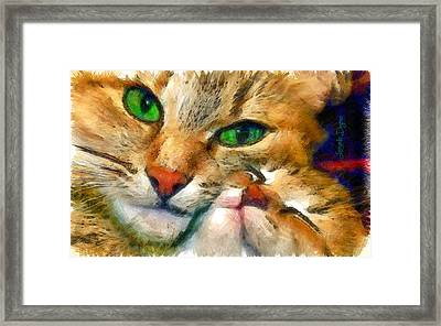 Green Vision - Da Framed Print by Leonardo Digenio