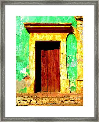 Green Wall By Darian Day Framed Print