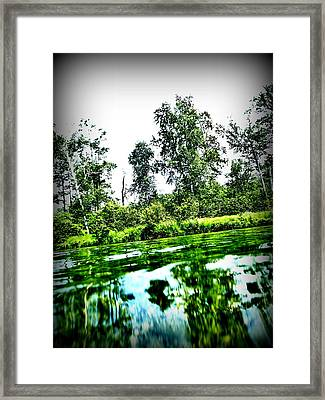 Green Waters Framed Print