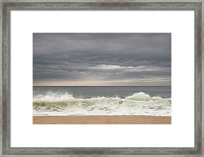 Green Wave Framed Print by Kevin Bergen