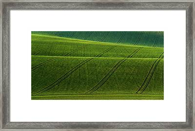 Framed Print featuring the photograph Green Waves Of Rolling Hills by Jenny Rainbow