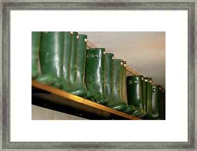 Green Wellies Framed Print
