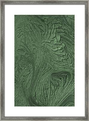 Green Wind Framed Print