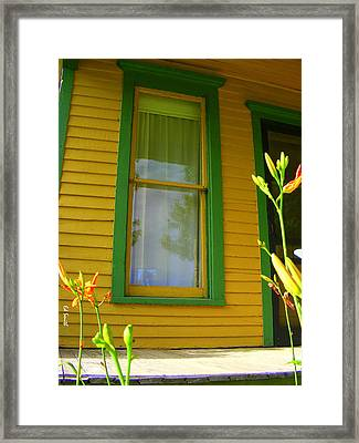 Green Window Framed Print by Ed Smith