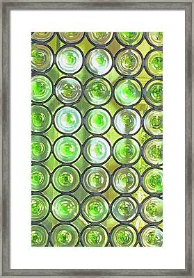 Green Window Framed Print