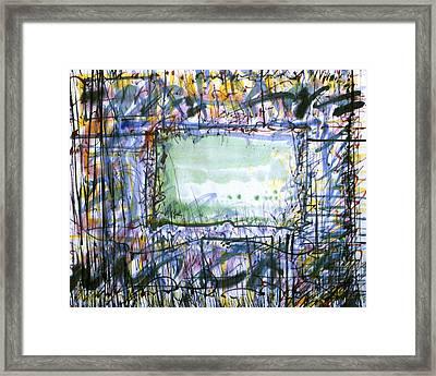 Green Window Framed Print by Tom Hefko