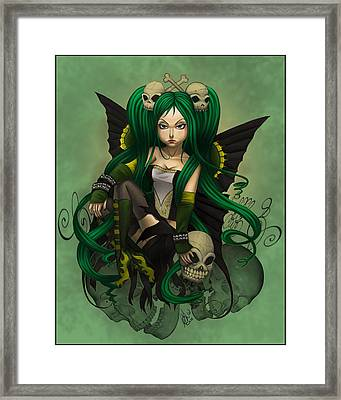 Green With Envy And Anger Framed Print by KimiCookie Williams