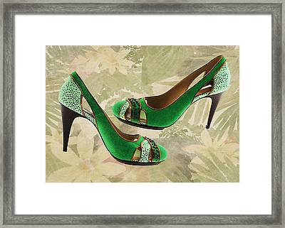 Green With Envy Pumps Framed Print