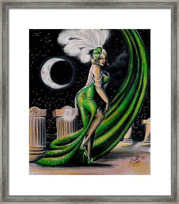 Green With Envy Framed Print by Scarlett Royal