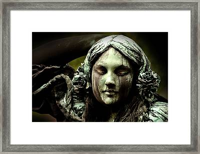Green Woman A Portrait Framed Print