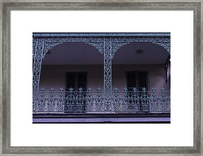Green Wrought Iron Rails Framed Print by Garry Gay
