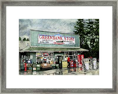 Greenbank Store Framed Print by Perry Woodfin