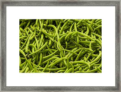 Greenbeans Framed Print