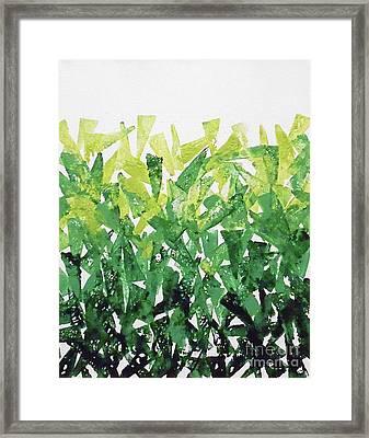 Greenery Gradation Framed Print by Jilian Cramb - AMothersFineArt