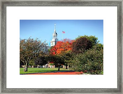 Greenfield Village And Henry Ford Museum In The Fall In Dearborn Michigan Framed Print by Design Turnpike