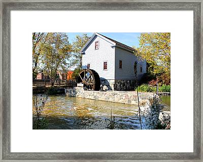 Greenfield Village Stoney Creek Sawmill In Dearborn Michigan Framed Print by Design Turnpike