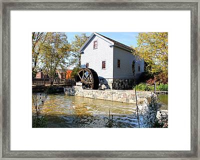 Greenfield Village Stoney Creek Sawmill In Dearborn Michigan Framed Print
