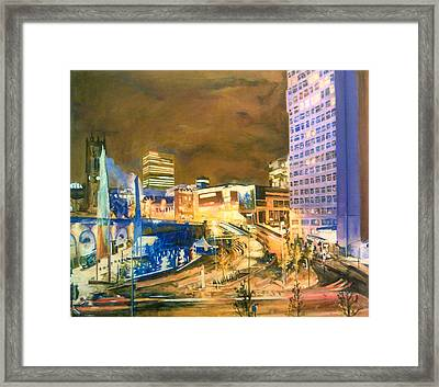 Greengate, Salford, Manchester At Night Framed Print