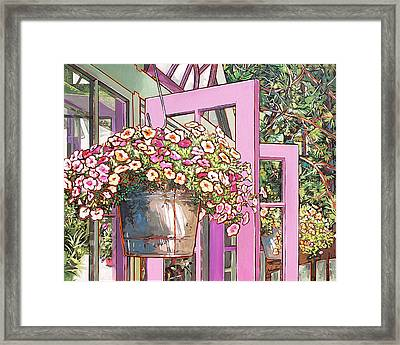 Greenhouse Doors Framed Print