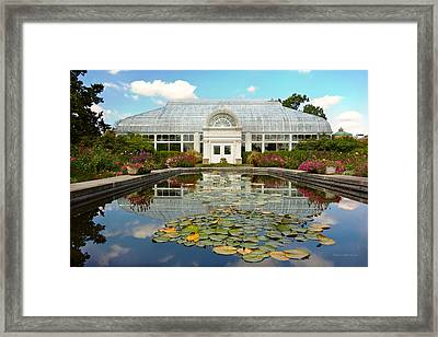 Greenhouse - The Conservatory Framed Print by Mike Savad