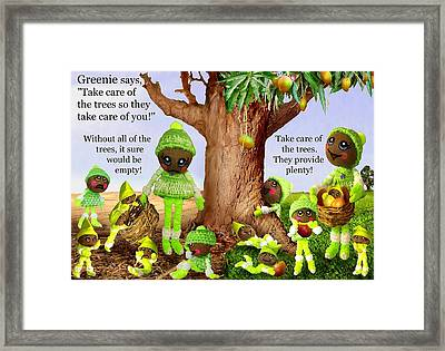 Greenie Poster 1 Framed Print