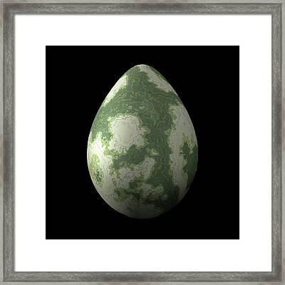 Greenish Egg Framed Print by Hakon Soreide