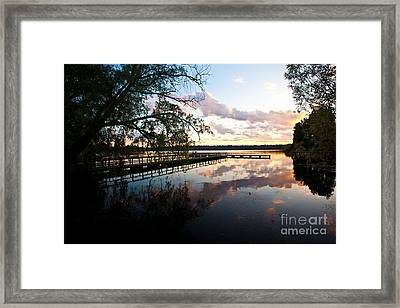 Greenlake Tranquility Framed Print