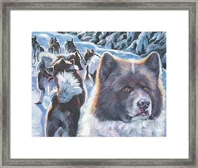 Greenland Dog Framed Print by Lee Ann Shepard
