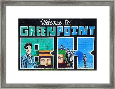 Greenpoint Brooklyn Wall Graffiti Framed Print