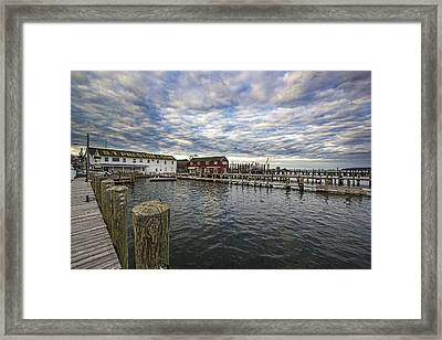 Greenport Dock Framed Print