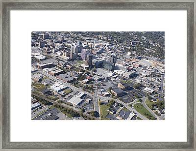Greensboro Aerial Framed Print by Robert Ponzoni