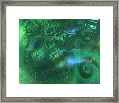 Greenskull Framed Print by J P Lambert