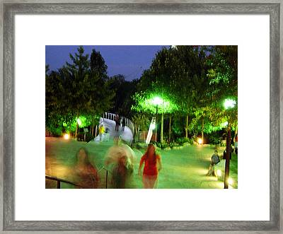 Greenville At Night Framed Print