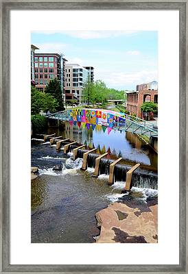 Framed Print featuring the photograph Greenville River Walk by Corinne Rhode