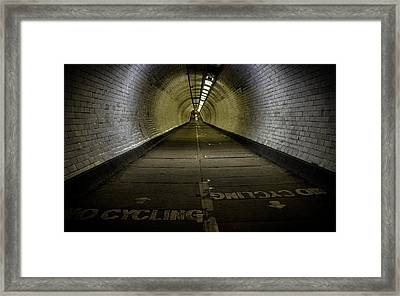 Greenwich Foot Tunnel Framed Print by Martin Newman