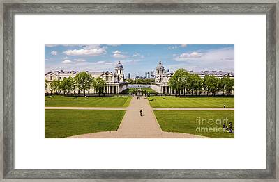 Greenwich Park And The Old Royal Naval College England Framed Print by Lexa Harpell