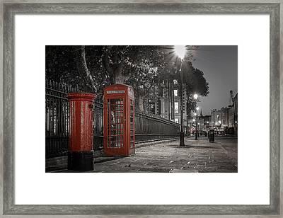 Greenwich Street Framed Print by Martyn Higgins