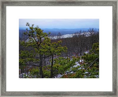 Greenwood Lake From The Appalachian Trail Framed Print by Raymond Salani III